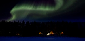 Aurora Safari Camp, with Auroras above it, February 2013. Hoping for a good Stargazing and Aurora season.