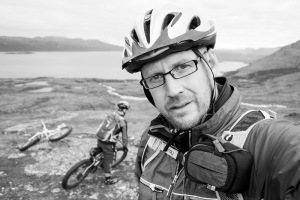 Fredrik Broman on mountainbike photo expedition